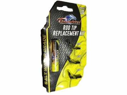Tsunami rod tip replacement kit tackledirect for Fishing rod tip replacement