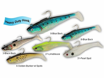 Tsunami SS7 Soft Bait Swim Shad HD Hook Lure