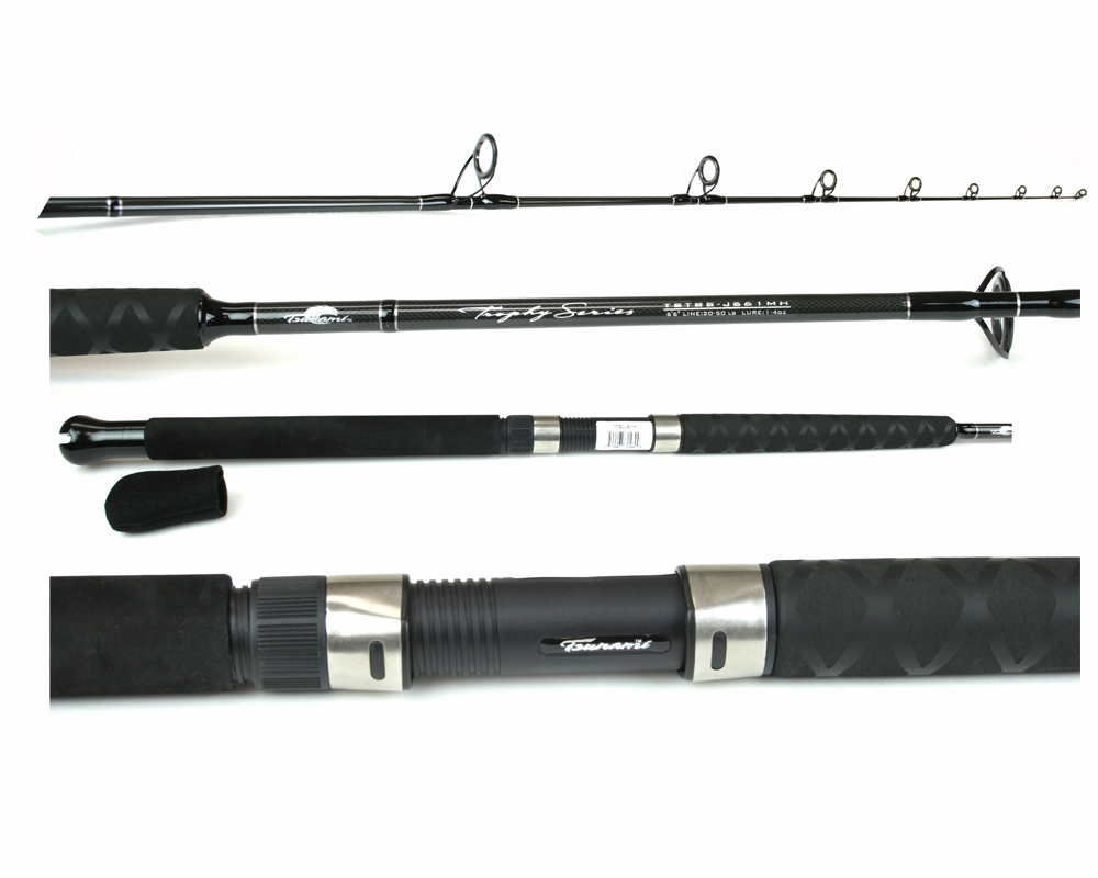 Tsunami tstbs j661mh trophy jigging rod tackledirect for Tsunami fishing reels