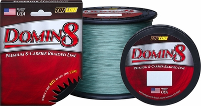 Tuf line domin8 braided fishing line 20 lb tackledirect for 20 lb braided fishing line