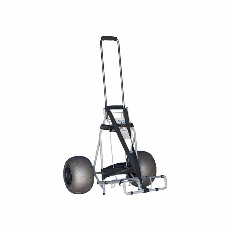 Wheeleez wz1 bcf folding beach carts for Folding fishing cart