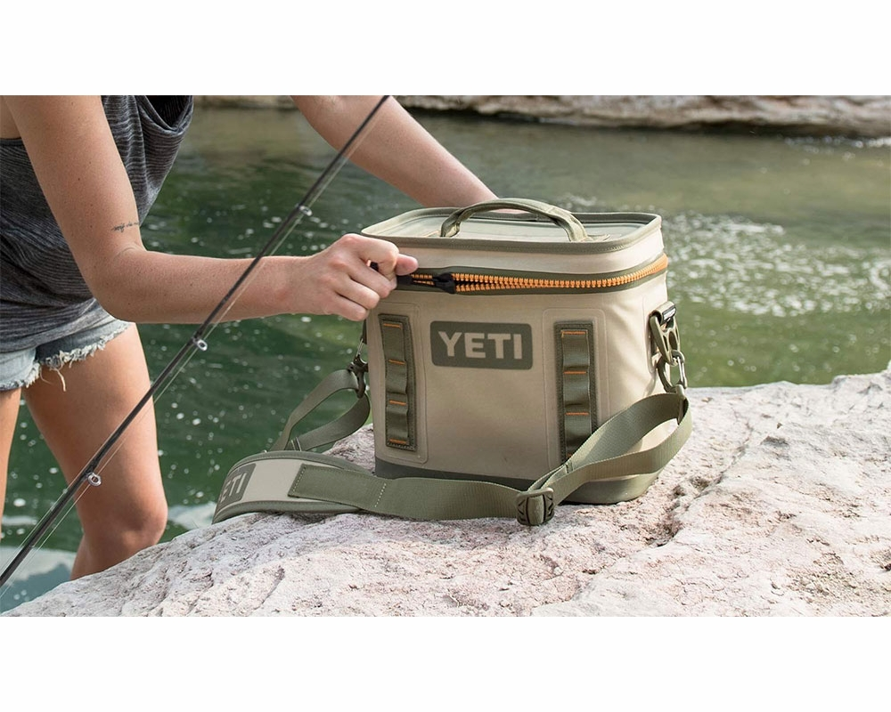 1f5ed569cd YETI Hopper Flip 8 Cooler - Tan