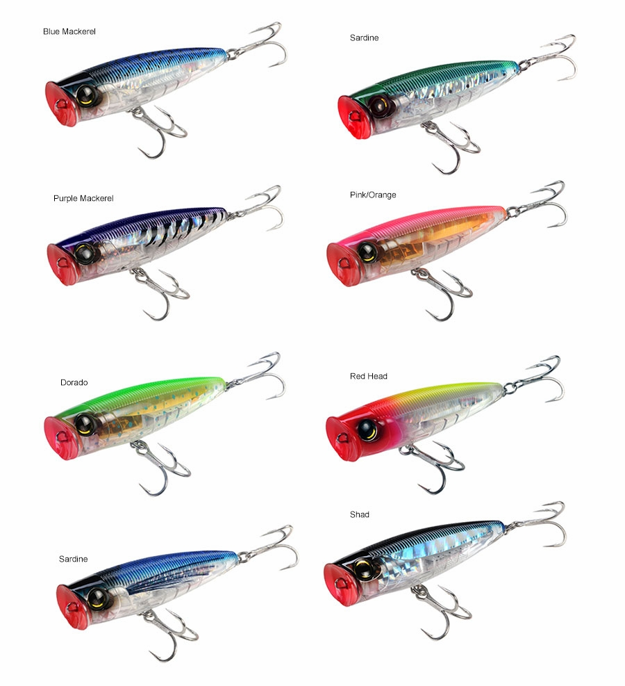 Yo zuri r1167 3d popper lure tackledirect for Best saltwater fishing line color