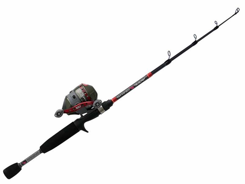 Zebco zr336054mtle rhino 33 telecast combo tackledirect for Rhino fishing pole