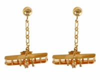 14K Gold Wright Flyer Earrings