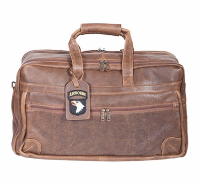 Airborne Leather Duffel Bag - Large