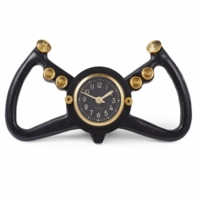 Aircraft Yoke Desk Clock - Black | $50 in Savings
