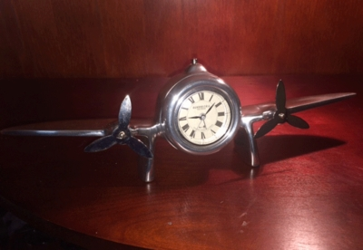 Airplane Clock with Trench Art