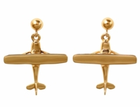 14K Gold Cessna Style Earrings