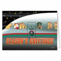 Airplane Season's Greetings Cards | Save 50%