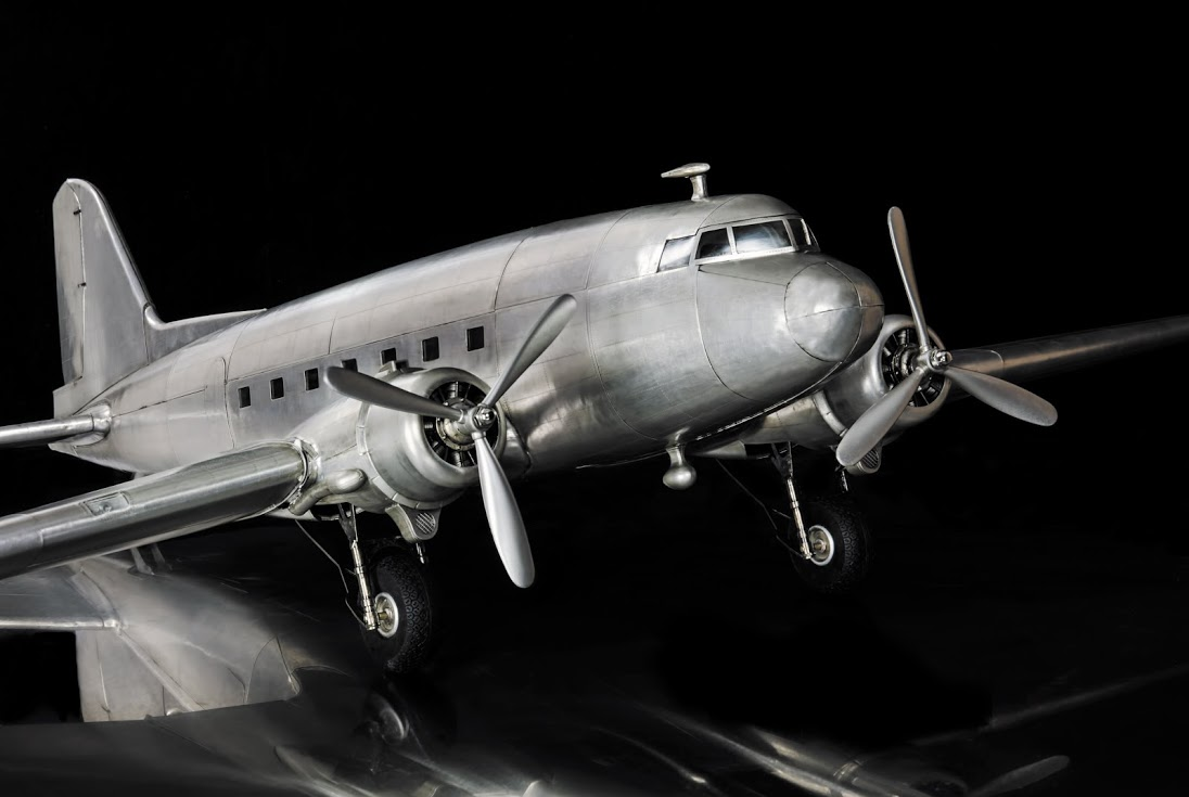 Aluminum Dc 3 Dakota Model Airplane Stunning Replica Model