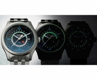 Aurora Borealis Inspired Zulu Time Aviator Watch