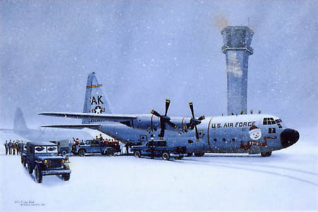 C 130 Hercules Airplane Art Print Aviation Art Print