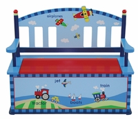 Child's Airplane Bench and Toy Box
