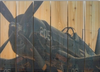 Corsair Airplane Indoor Outdoor Art - Large
