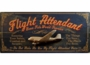 Flight Attendant 3-D Wood Sign - Can Be Personalized