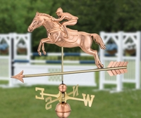 Horse & Rider Weather Vane
