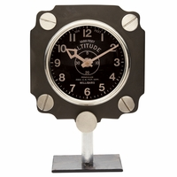 Metal Altimeter Mantel Clock