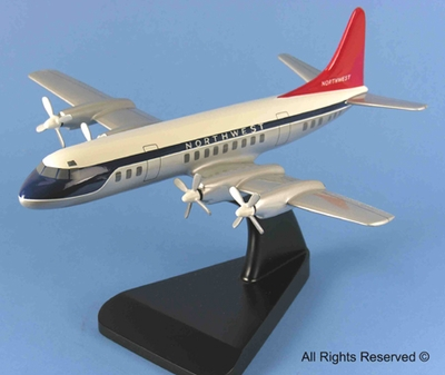 Northwest Airlines L-188 Electra Model Airplane