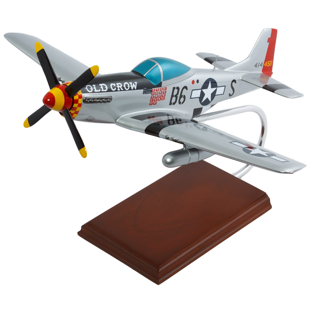 P 51 Mustang Old Crow Model Airplane Stunning Wood Model