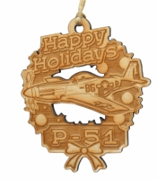 P-51 Mustang Wooden Ornament