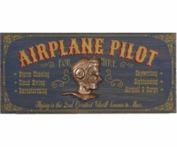 Airplane Pilot 3-D Wood Sign - Can Be Personalized