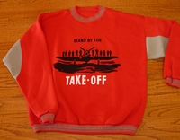 Red Take-Off Airplane Sweatshirt - Closeout Save 40%