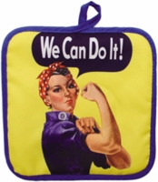 Rosie The Riveter Hot Pads - Set of Two