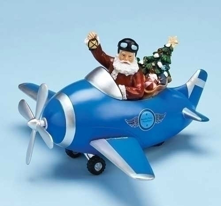 Santa Airplane Musical | Airplane Christmas | Aviation Decorations