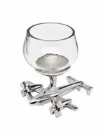 Shot Glass with Airplane Base - Set of Two