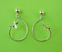 Silver Aerobatic Flight Earrings - Lo Wing
