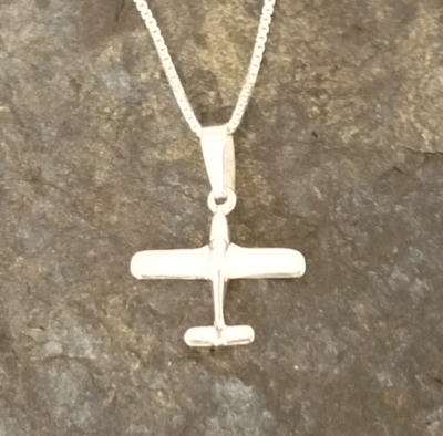 Silver Piper Style Pendant with Necklace