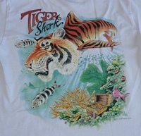 Tiger Shark Airplane Tee Shirt - Closeout Save 40%