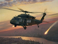 UH-60 Black Hawk Aviation Art Print