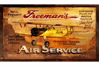 Wood Biplane Sign - Can Be Personalized