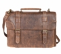 WW II Style Leather Satchel Briefcase