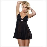 Baby Doll Set Pleated Chiffon