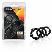 Stay Hard Beaded Cock Rings Set