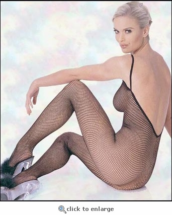 Bodystocking Fishnet V-Back #8671