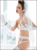Bridal Cupless Bra, Garter Belt & G-String Set