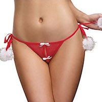 Christmas Crotchless Panties