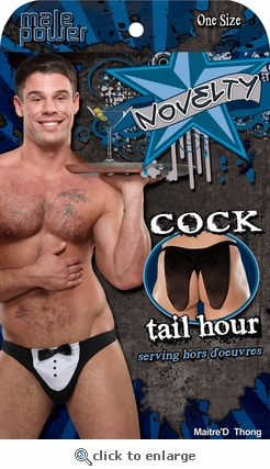 Cock Tail Hour Tuxedo Thong Gag Gift