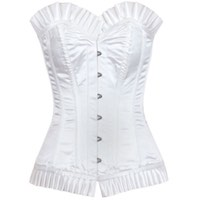 Corset Nights in White Satin Waist Reducing Corset