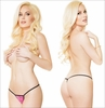 Crotchless G-String Reversible Two Color Lace
