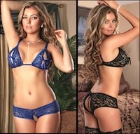Crotchless Lingerie Set Sparkle Lace