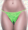 Crotchless Panties Neon Lace