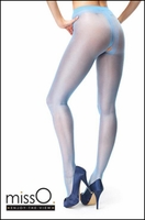 Crotchless Pantyhose Light Blue P101 Larger Images