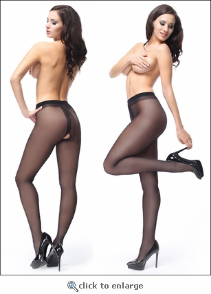 Crotchless Pantyhose with Shine 40 Denier