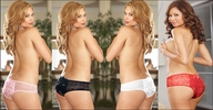 Plus Size Crotchless Panty Ruffled Rear