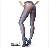 Crotchless Pantyhose Dark Blue P101 Larger Images